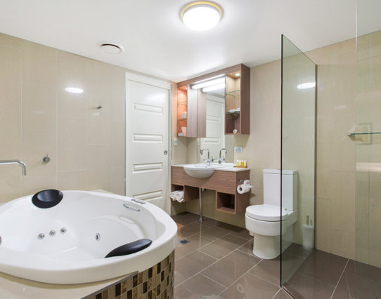 Bathroom in Rockhampton Apartment - CBD Luxury Accommodation